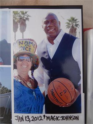Magic Johnson back in Jan 2012