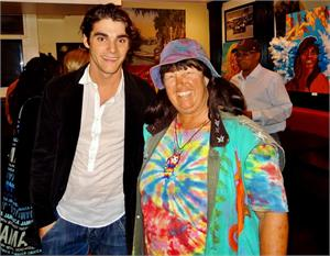 RJ Mitte from Breaking Bad Sept 18, 2014 Venice Beach Dannys Deli Art Crawl