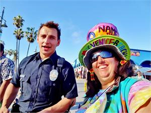 FAMOUS PRANKSTER, VITALY, FROM YOUTUBE, DRESSED AS POLICE OFFICER VENICE BEACH DEC 5, 2014