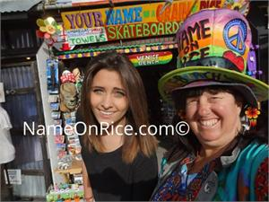 Paris Jackson (daughter of Michael Jackson) She let me take a selfie Venice Beach on Jan 22, 2015. She was skateboarding.