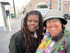 Sharon from 'All Worked Up' Meter Maid — with Jackie Pucci, Apr. 2011