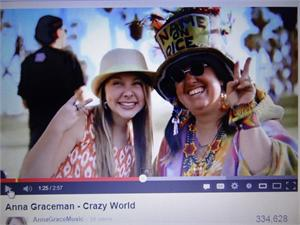 ANNA GRACEMAN MUSIC VIDEO CRAZY WORLD